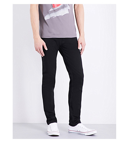 TOPMAN Slim-fit tapered jeans (Black