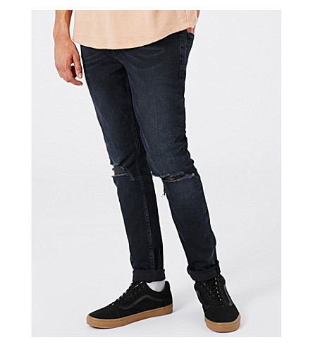 TOPMAN Renee slim-fit skinny jeans (Dark+blue