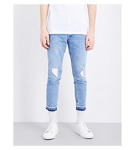 TOPMAN Mid-rise skinny denim jeans (Mid+blue