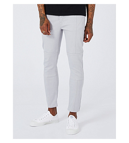 TOPMAN Jaggy mid-rise slim-fit jeans