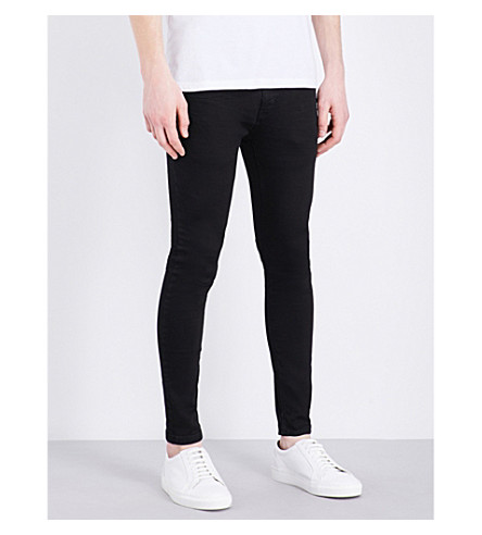 TOPMAN Vincente skinny-fit stretch-denim jeans (Black