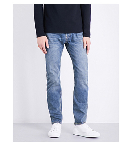 TOPMAN Freeway standard-fit tapered jeans