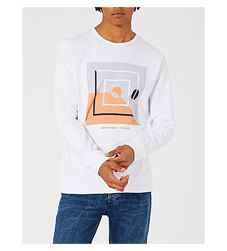 TOPMAN Malmo cotton-jersey sweatshirt (White