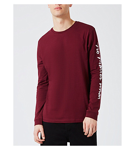 TOPMAN No Matter What cotton top (Burgundy