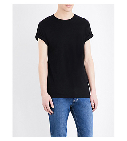 TOPMAN Muscle-fit cotton-jersey T-shirt (Black