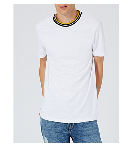 TOPMAN Smart cotton T-shirt (White