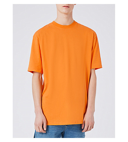 TOPMAN 90s cotton-jersey T-shirt (Orange