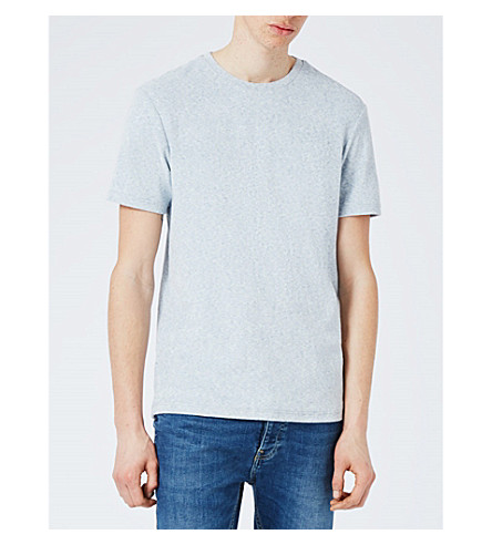 TOPMAN Textured towelling T-shirt (Grey