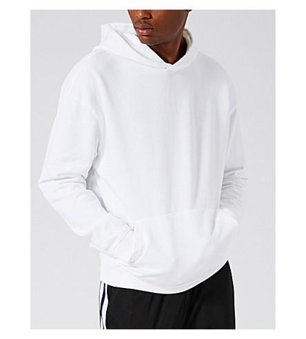 TOPMAN Nico cotton-jersey hoody (White