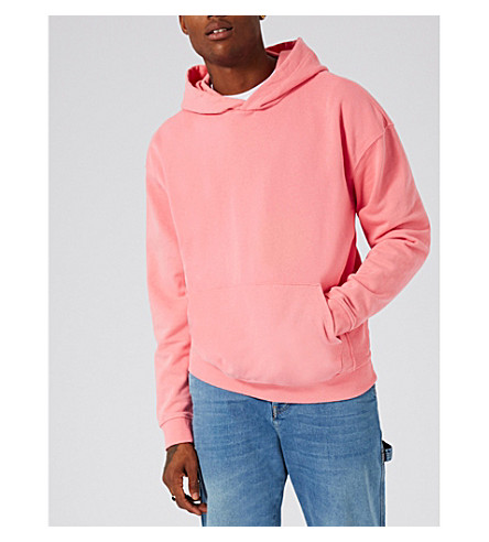 TOPMAN Nico cotton-jersey hoody (Pink