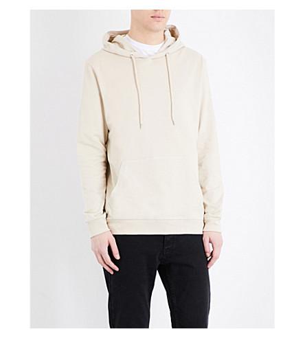 TOPMAN Oversized cotton-jersey hoody (Stone