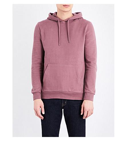 TOPMAN Classic-fit jersey hoody (Purple