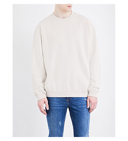 TOPMAN Nico cotton-jersey sweatshirt (Light+grey