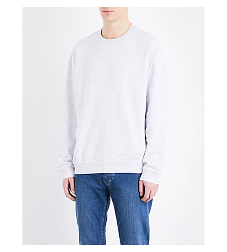 TOPMAN Oversized cotton-blend sweatshirt (Light+grey