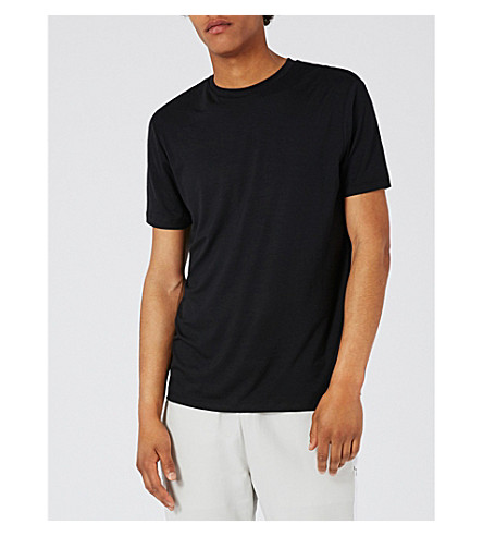 TOPMAN Crew neck jersey T-shirt (Dark+grey