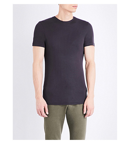 TOPMAN Topman Premium Boxy-fit jersey t-shirt (Dark+brown