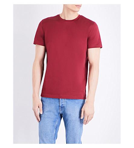 TOPMAN Topman Premium Mercer cotton-jersey t-shirt (Burgundy