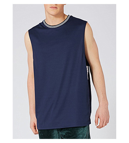 TOPMAN Taped jersey vest