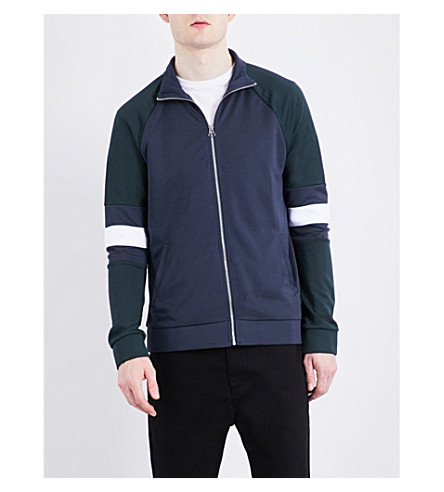 TOPMAN Sports panelled jacket (Dark+blue