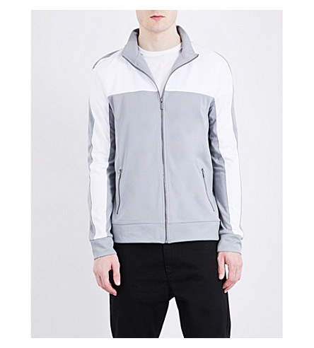 TOPMAN Sports panelled jacket (Mid+grey