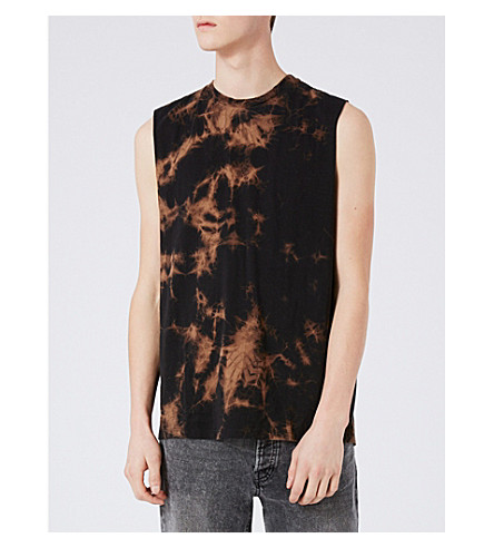 TOPMAN Tie-dye cotton-jersey vest top (Multi