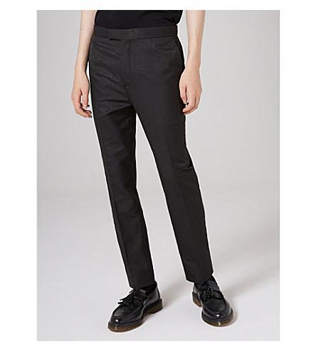 TOPMAN Topman x James Bay slim-fit tapered jacquard trousers (Grey