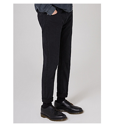 TOPMAN Topman x James Bay side-stripe slim-fit skinny jeans (Black
