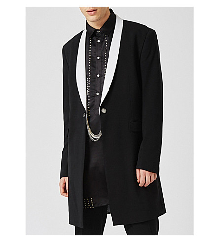 TOPMAN Woven suit jacket (Black