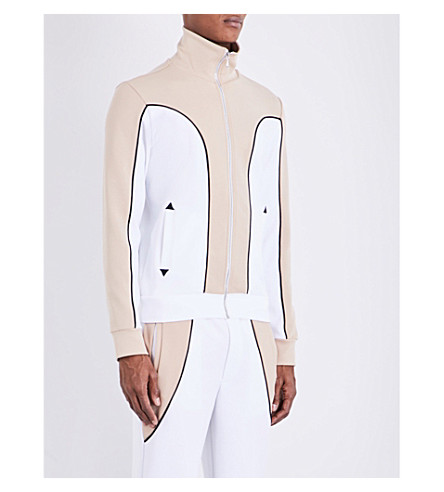 TOPMAN Design contrast panel jersey jacket (White