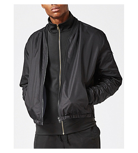 TOPMAN AAA reversible shell bomber jacket (Black