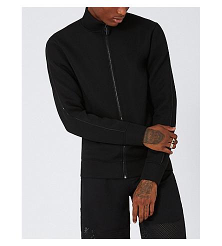 TOPMAN Aaa neoprene zip-up track jacket (Black