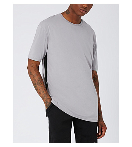 TOPMAN Tape cotton-jersy T-shirt (Purple
