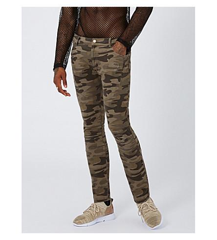TOPMAN Camouflage slim-fit skinny jeans (Multi