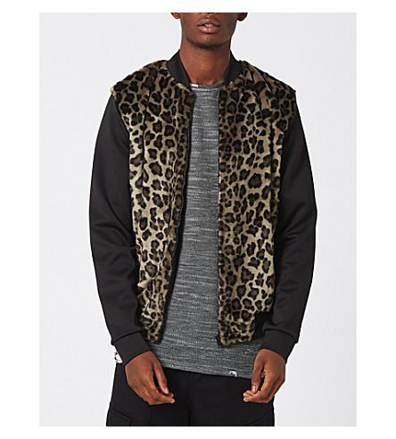 TOPMAN AAA leopard-print shell bomber jacket (Multi
