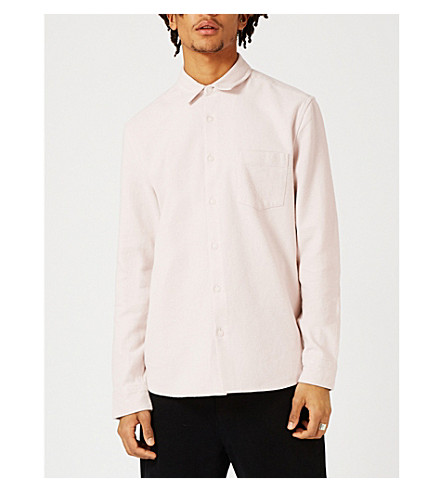 TOPMAN LTD regular-fit pilled cotton shirt (Pink