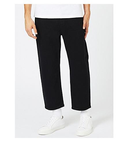 TOPMAN Topman LTD relaxed-fit cropped jeans (Black