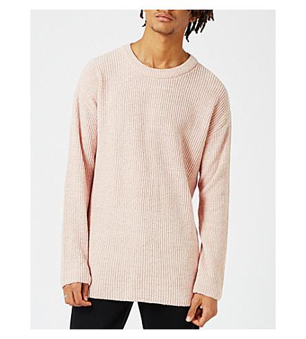 TOPMAN Topman LTD chenille jumper (Pink