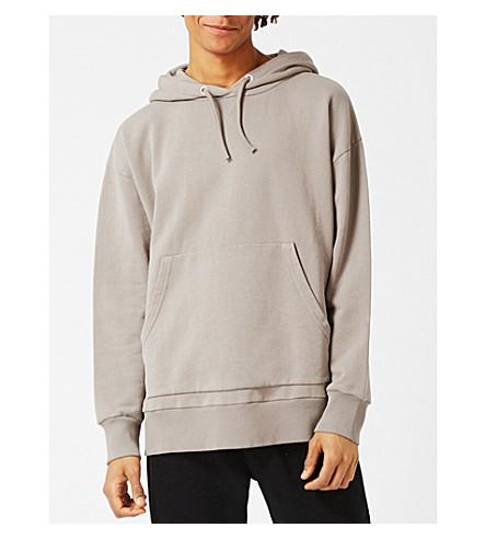 TOPMAN LTD oversized cotton-jersey hoody (Grey