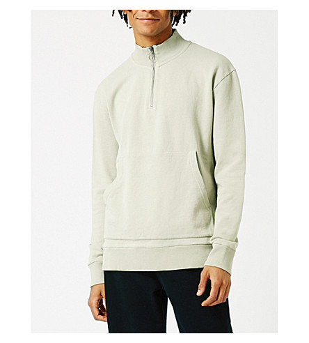 TOPMAN LTD oversized cotton-jersey sweatshirt (Grey