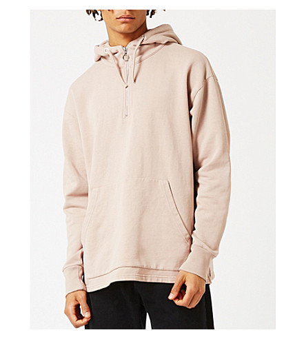 TOPMAN LTD oversized cotton-jersey hoody