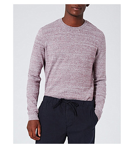 TOPMAN Twisted yarn cotton jumper (Dark+grey