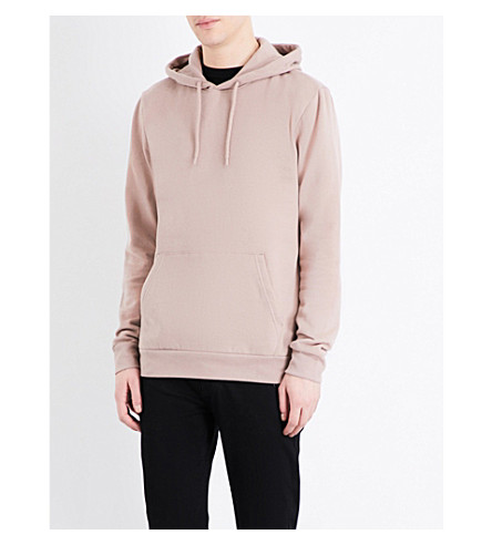TOPMAN Topman Premium merino wool-blend hoody (Light+brown