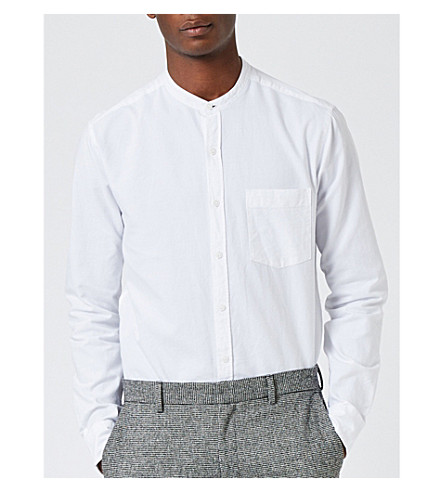 TOPMAN Classic-fit cotton Oxford shirt (White