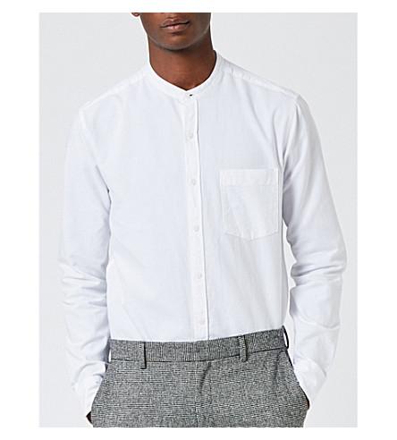 TOPMAN Classic-fit cotton Oxford shirt (White