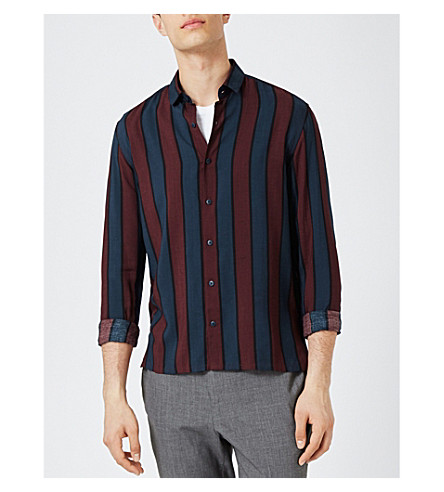TOPMAN Striped classic-fit woven shirt