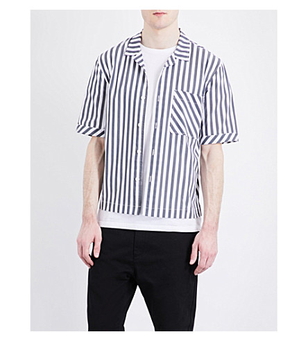 TOPMAN Striped stretch-cotton shirt