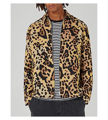 TOPMAN Leopard-print woven overshirt (Multi