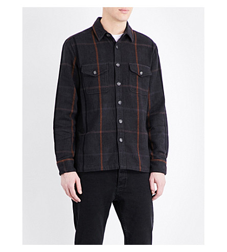 TOPMAN Oversized checked cotton-flannel shirt
