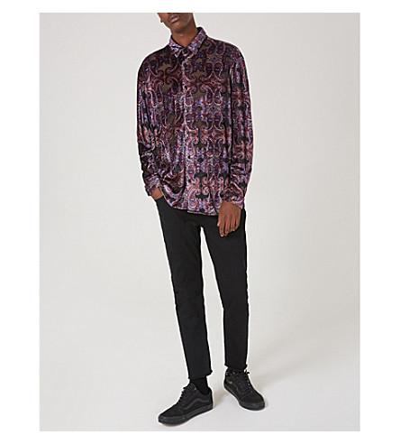 TOPMAN Paisley-print devoré shirt (Multi