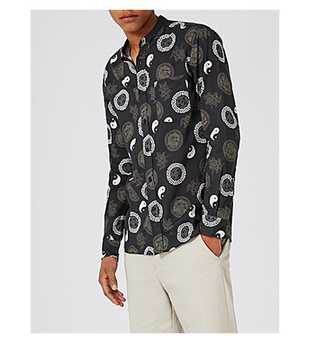TOPMAN Yin-Yang cotton shirt (Black